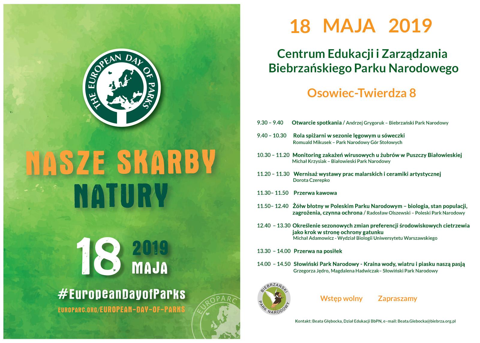 Europejski Dzień Parków Narodowych 18 Maja 2019 R